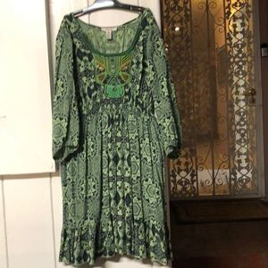Green n black dress, style&co.